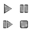 Play pause stop forward sign icon set