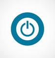 power on bold blue border circle icon vector image vector image