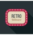 Retro light frame vector image