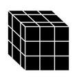 rubik cube toy puzzle vintage icon vector image