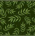 seamless pattern from green leaves of mountain vector image