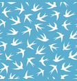 seamless pattern with a flock of swallows vector image vector image