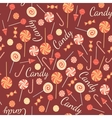 Seamless pattern with sweet candies isolated on vector image vector image
