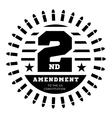 Second Amendment to the US Constitution to permit vector image vector image