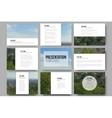 Set of 9 templates for presentation slides Nature vector image vector image