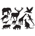 set of animals silhouette vector image vector image
