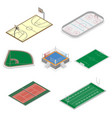 set of playgrounds in isometric vector image vector image