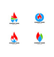 set oil and gas logo design template vector image vector image