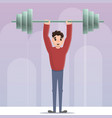 sportsman dumbbell up concept background cartoon vector image vector image
