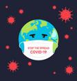 stop spread covid-19 coronavirus concept vector image