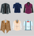 suit male pack free vector image vector image