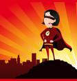 super hero - female vector image