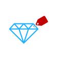tag diamond logo icon design vector image