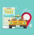 taxi service smartphone flat vector image vector image