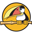 Toucan bamboo stick vector image vector image