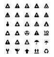 Warning Icons 1 vector image
