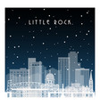 winter night in little rock night city vector image vector image