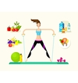 Woman healthy llifestyle vector image vector image