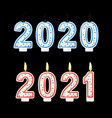 year change from 2020 to2021concept happy new year vector image vector image