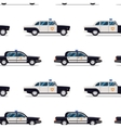 seamless pattern of police cars vector image