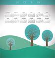 2016 Creative trees landscape vector image vector image
