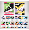 2017 year calendar with contemporary style art vector image vector image