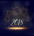 2018 new year sparkles and fireworks background vector image vector image