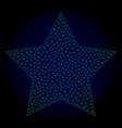 5 corners star polygonal frame mesh vector image