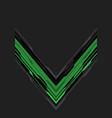 abstract green black arrow circuit on grey vector image vector image