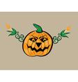 Abstract halloween pumpkin vector image vector image