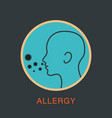 allergy logo icon vector image