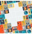 Background with journalism icons vector image vector image