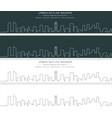 beirut single line skyline banner vector image vector image