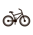 bicycle monochrome contour to the right vector image vector image