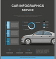 business infographic with car vector image vector image
