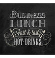 Business lunch chalk