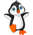 Cartoon baby penguin vector image