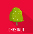 chestnut tree icon flat style vector image vector image
