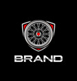 classic wheels logo template vector image vector image
