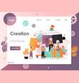 creation website landing page design vector image