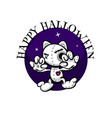 cute evil rabbit halloween woodoo sewing toy vector image