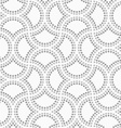 Dotted cut double circle pin will vector image vector image