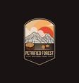 emblem logo petrified forest national park vector image vector image