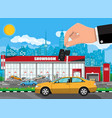 exhibition pavilion car dealership vector image