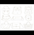 female handbags set isolated woman hand bag vector image vector image