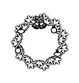 figure christmas wreath garland with christmas vector image