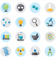 Flat Icons For Science Icons vector image vector image