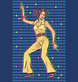 girl in pantsuit woman disco dance vector image vector image