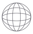 globe world icon in monochrome silhouette vector image vector image