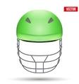 Green Cricket Helmet Front View vector image vector image